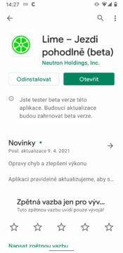 aplikace v betatestu