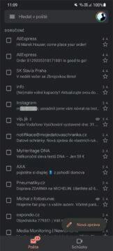 Chat v aplikaci Gmail hlavní karta