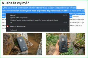 Chrome kopírovat odkaz na zvýraznění ukázka