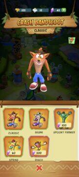 Crash Bandicoot On the Run Android skiny Crash