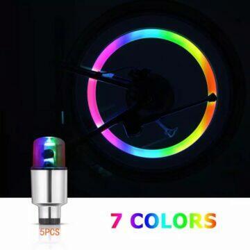 Dekorativní světýlka na ventilek auta bicyklu RGB