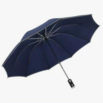 Deštník se svítilnou reflex
