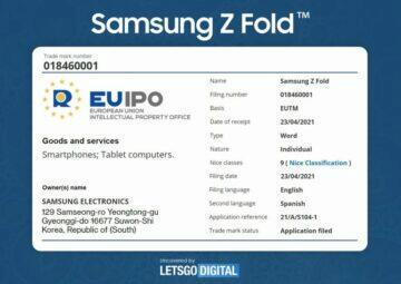 dvojitě ohebný Samsung tablet EUIPO