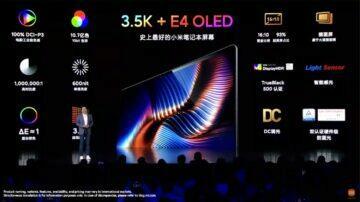 E4 OLED displej