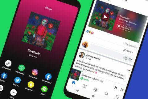 Facebook Spotify nový přehrávač
