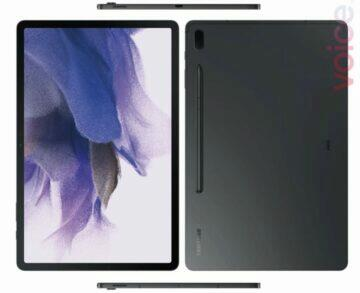 Galaxy Tab S7 Lite render