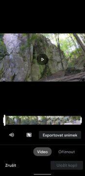Google Fotky nový video editor - editace