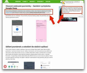 Google Keep nejlepší rozšíření - oficialni google extension
