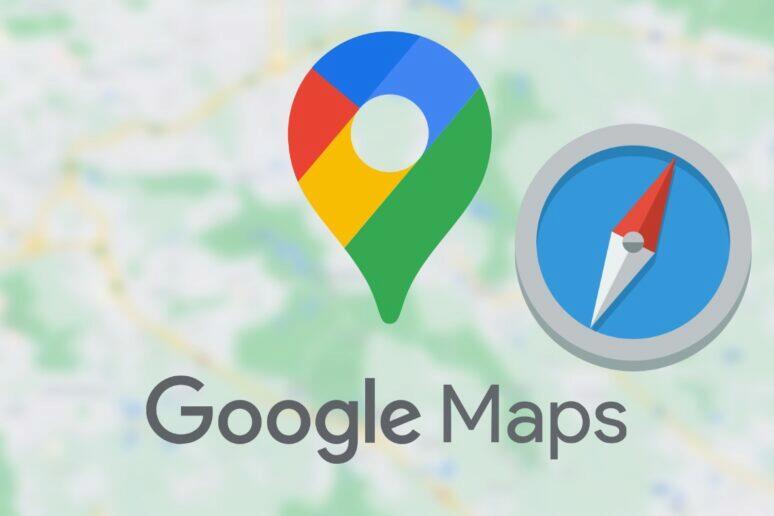 Google mapy kompas