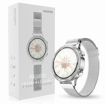 hodinky Aligator Watch Lady stříbrná