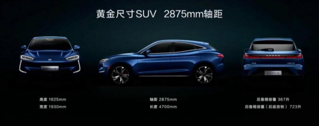 Huawei začíná prodávat první elektromobil SERES SF5 rozměry