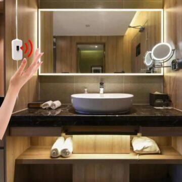 LED pásek s bezdotykovým ovládáním koupelna
