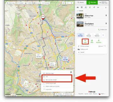 jak naplánovat výlet mapy.cz - tisk