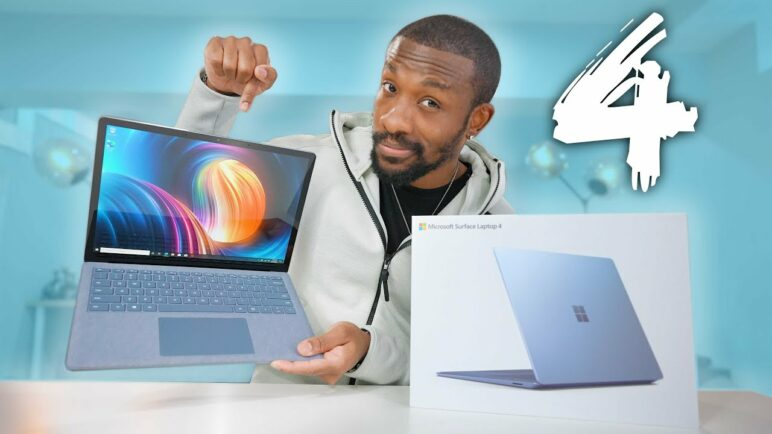 NEW Microsoft Surface Laptop 4 Unboxing and First Impressions!
