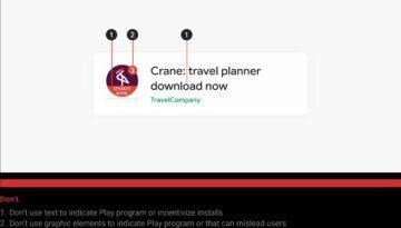 Obchod Play nová pravidla označování aplikací výzva
