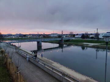 OnePlus 9 Pro foto západ slunce