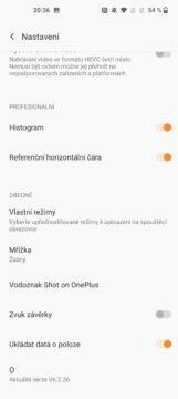 OnePlus 9 pro fotoapp nastavení 2