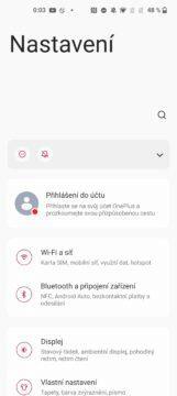 OnePlus 9 pro nastavení