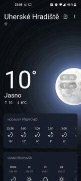 OnePlus 9 pro počasí