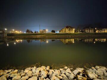 OnePlus 9 Pro ultraširokoúhlý noční krajina