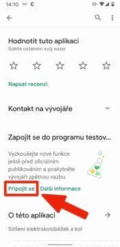 Triky v Google Play - pripojit se k betatestu