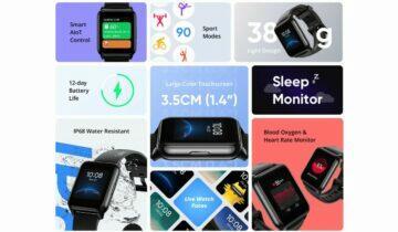 Realme Watch 2 představeny - parametry
