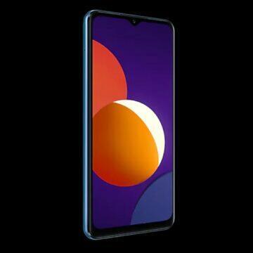 Samsung Galaxy M12 český trh modrá displej