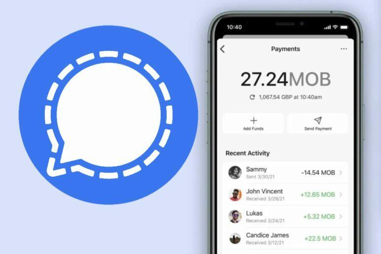signal platby v aplikaci