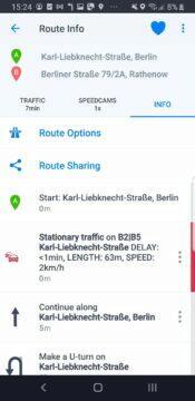 Sygic aplikace modernizace itinerář starý