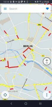 mapa Berlín stará
