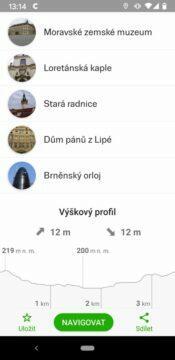 vyskov profil kratka trasa