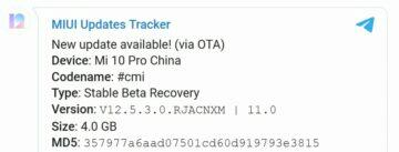 Xiaomi aktualizace miui