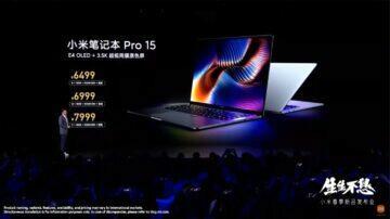 Xiaomi Mi Notebook Pro 15 2021 parametry cena ceny