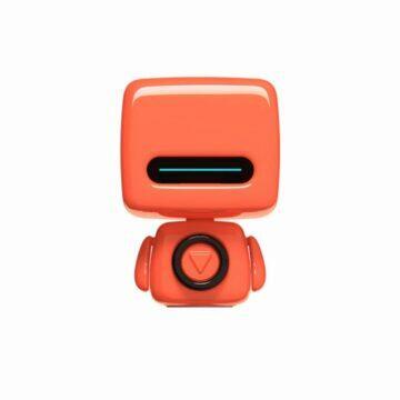 Baseus 15W Qi bezdrátová nabíječka 3life robotický bezdrátový reproduktor oranžový