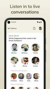 aplikace Clubhouse Obchod Google Play konverzace