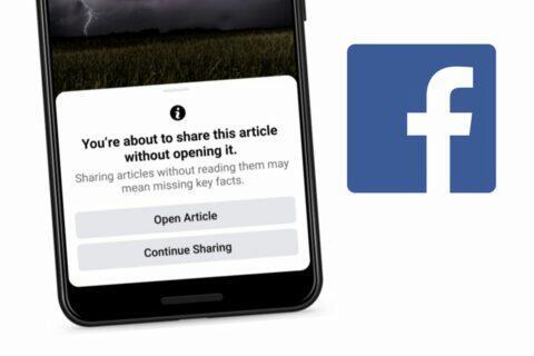 Facebook sdílení článku bez přečtení