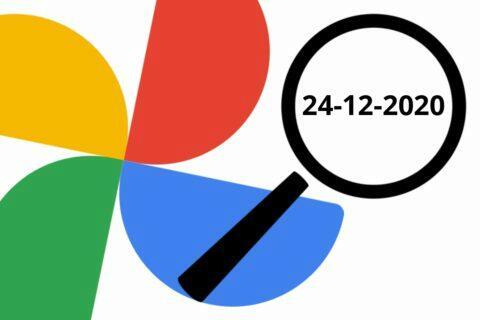 Fotky Google podle konkrétního data