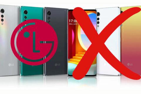 LG přestalo vyrábět smartphony