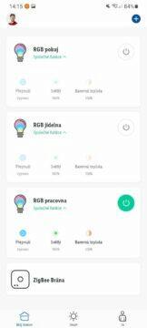 Lidl Home aplikace žárovky