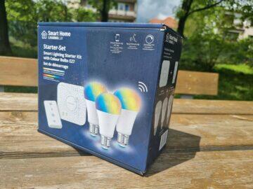 LIDL Smart Home brána žárovky ovladač balení krabice