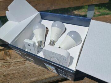 LIDL Smart Home brána žárovky ovladač balení obsah