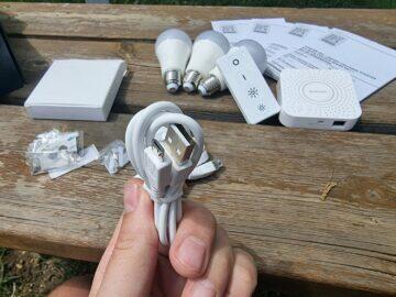 LIDL Smart Home brána žárovky ovladač brána napájecí kabel