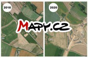 Mapy.cz nové snímky středu republiky
