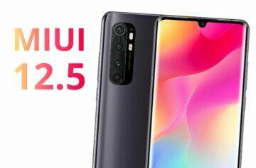 MIUI 12.5 dostává Xiaomi Mi Note 10 Lite