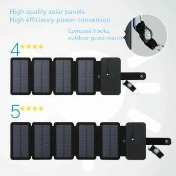 Mobilní solární 8W 10W nabíječka KERNUAP
