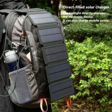 Mobilní solární 8W 10W nabíječka KERNUAP batoh