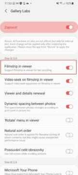 Samsung přehrávání videa ve videopřehrávači Filmstrip in viewer