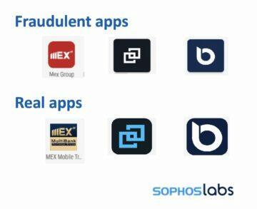 Sophos 167 falešných finančních aplikací