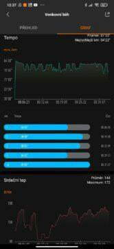 srovnání Mi Band 4 graf