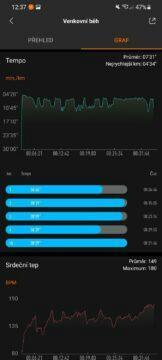 srovnání Mi Band 6 graf